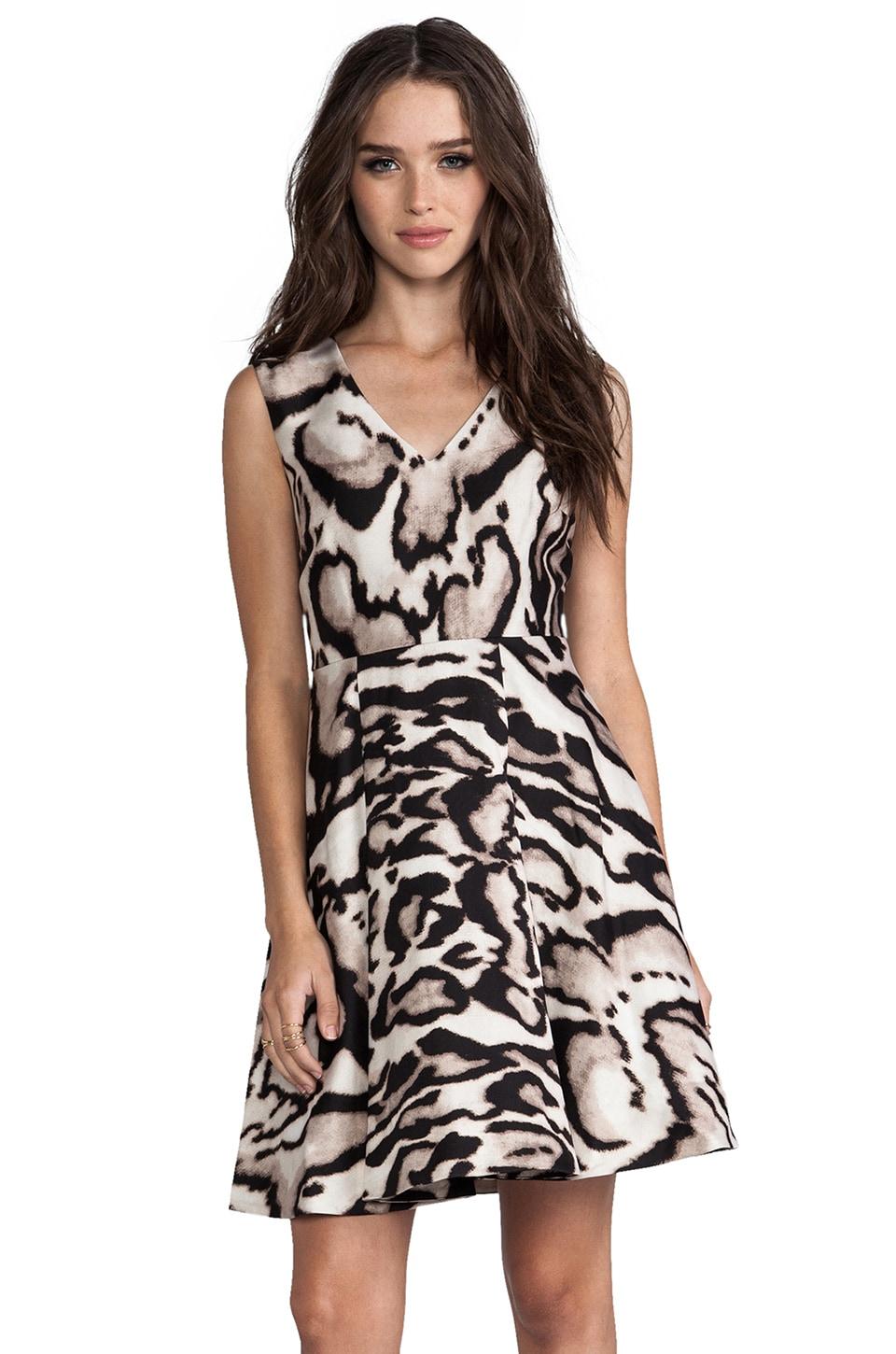 Diane von Furstenberg Renna Dress in Leopard Bark