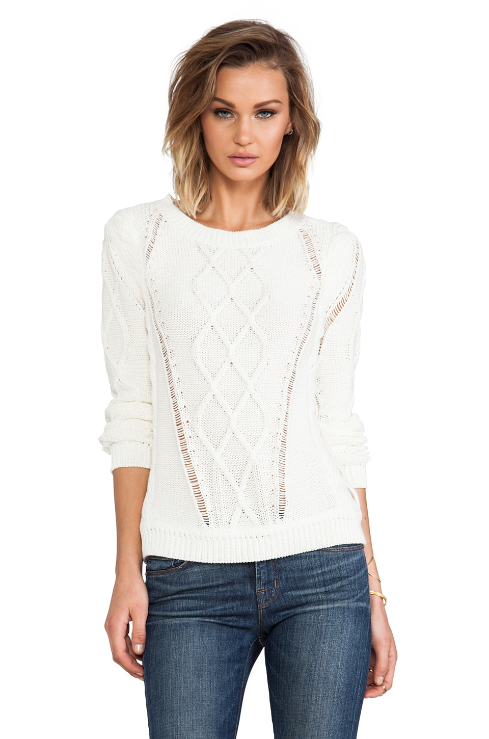 Diane von Furstenberg Lakota Sweater in Ivory