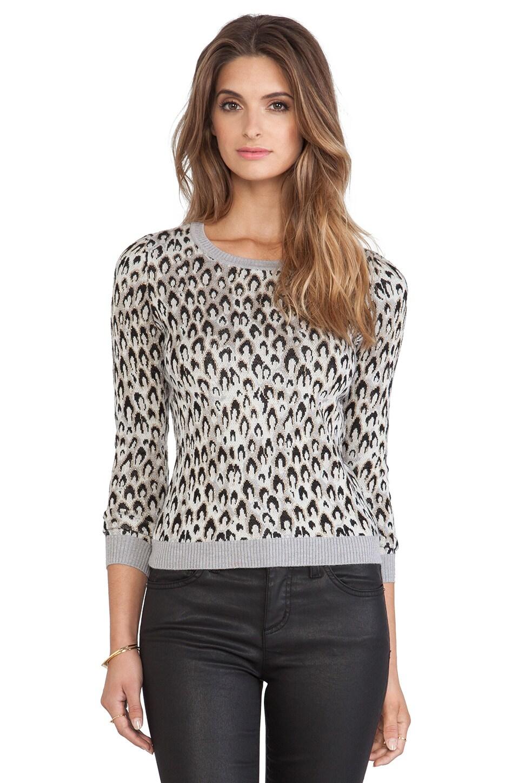 Diane von Furstenberg Jacquard Sweater in Leopard Dance Small