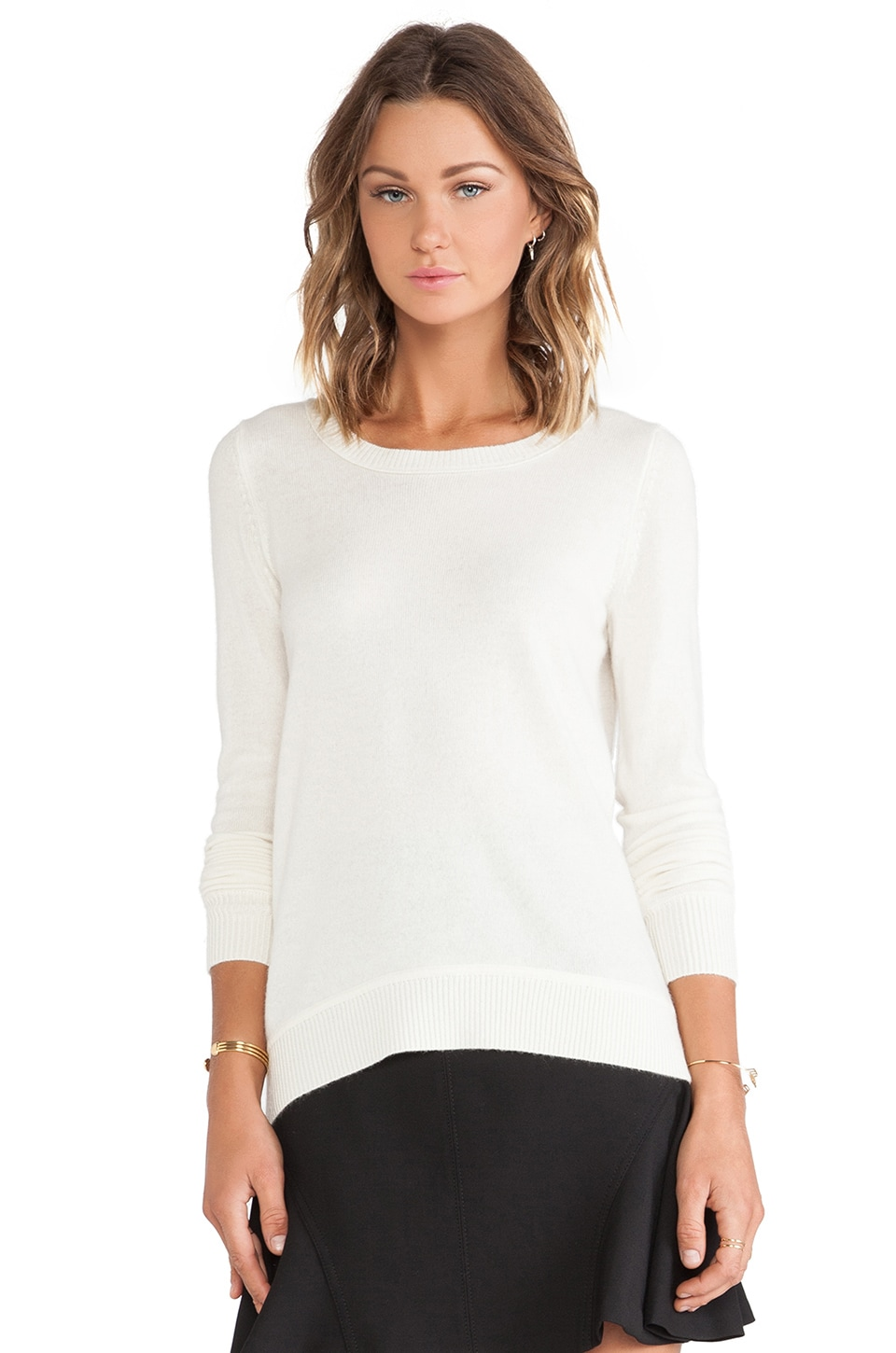 Diane von Furstenberg Solid Sweater in Ivory