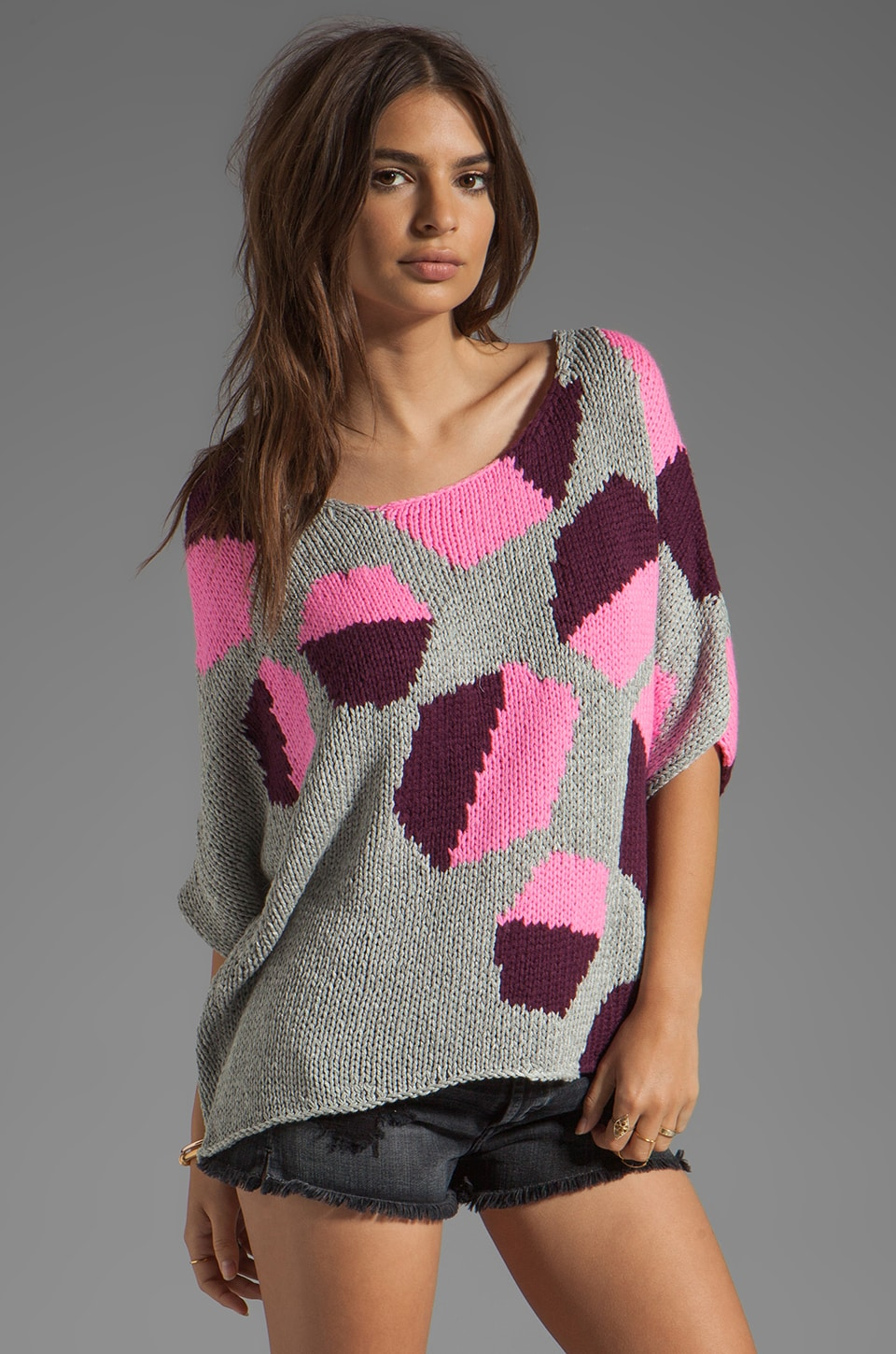 Diane von Furstenberg Zita Intarsia Sweater in Hexagon Halves