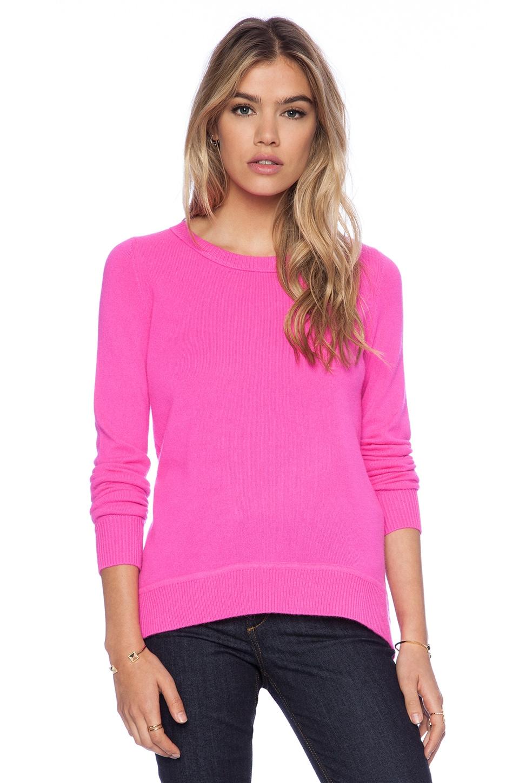 Diane von Furstenberg Solid Sweater in Fuchsia Fever