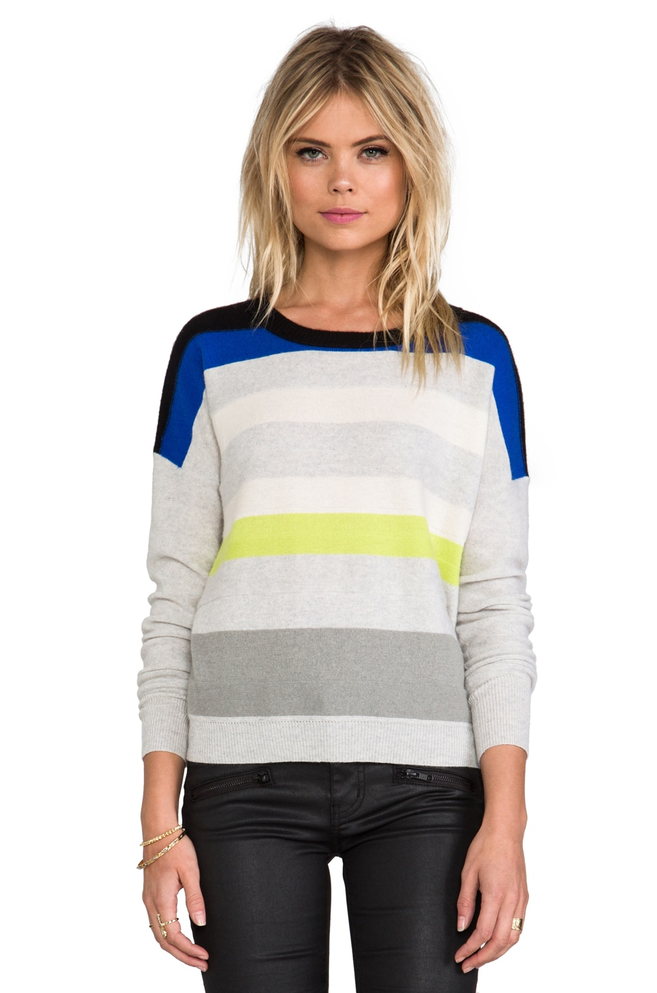 Diane von Furstenberg Shell Sweater in Black/Blue