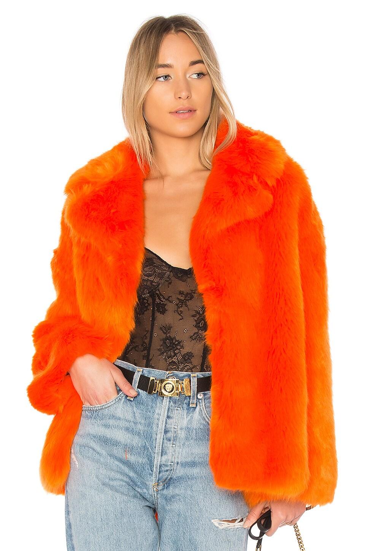 db9ed8ae2f5 Collared Faux Fur Jacket. Collared Faux Fur Jacket. Diane von Furstenberg