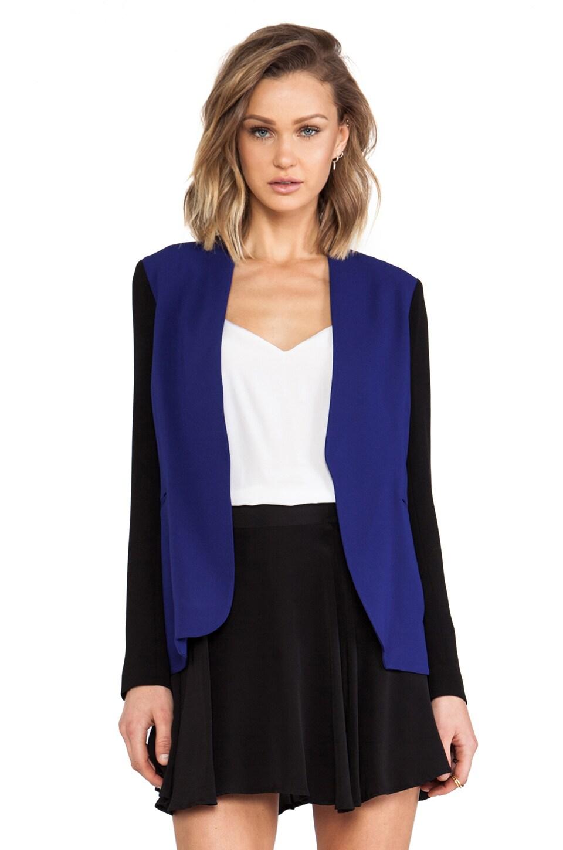 Diane von Furstenberg Paulette Blazer in Vivid Blue/Black