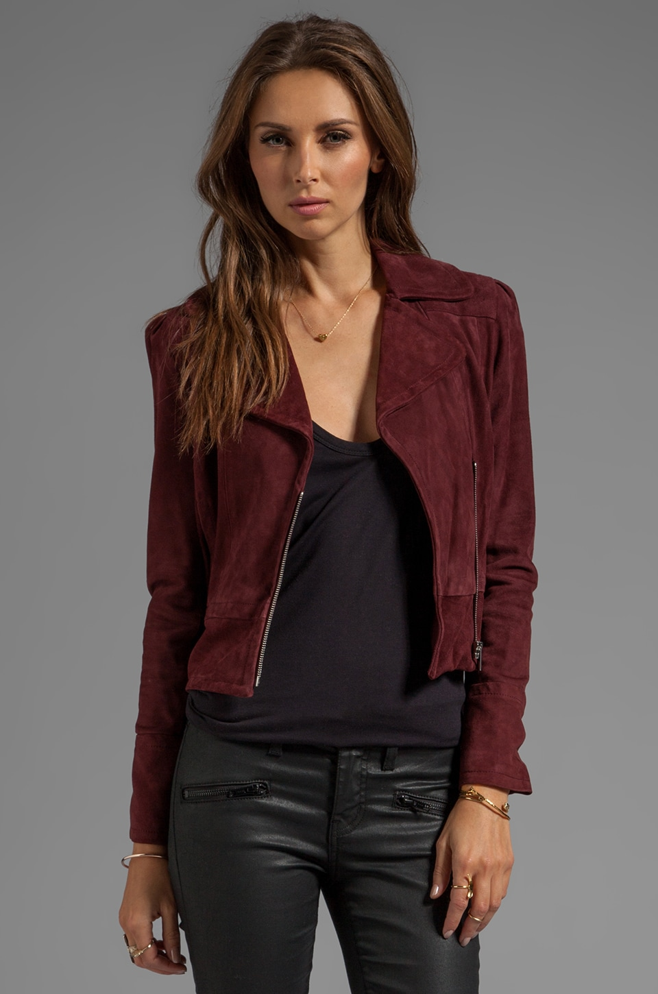Diane von Furstenberg Kazara Jacket in Purple Rouge