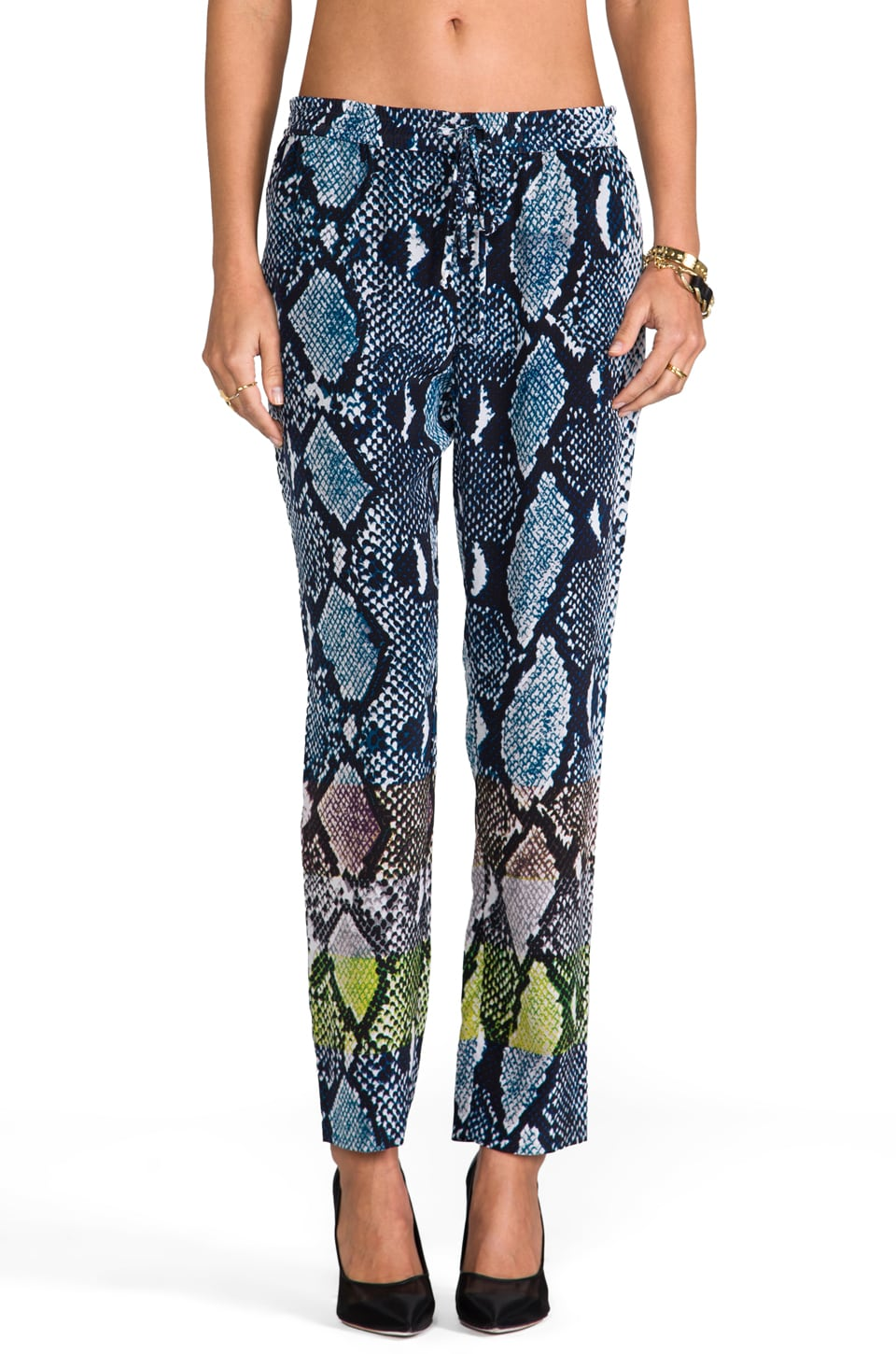 Diane von Furstenberg Benett Two Animal Pant in Python Multi