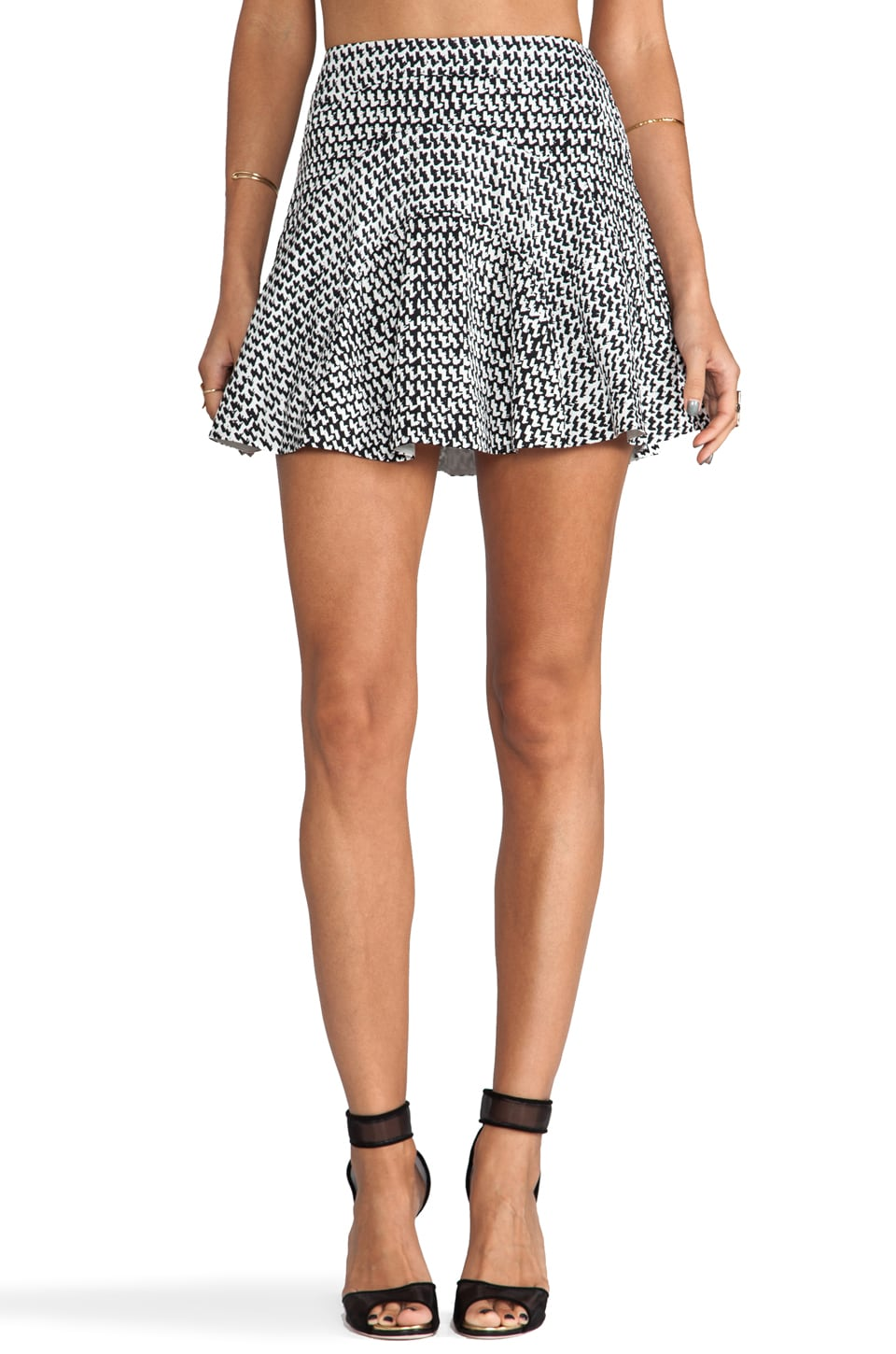Diane von Furstenberg Runway Tristana Skirt in Tweed Dash Black/Tweed Dash