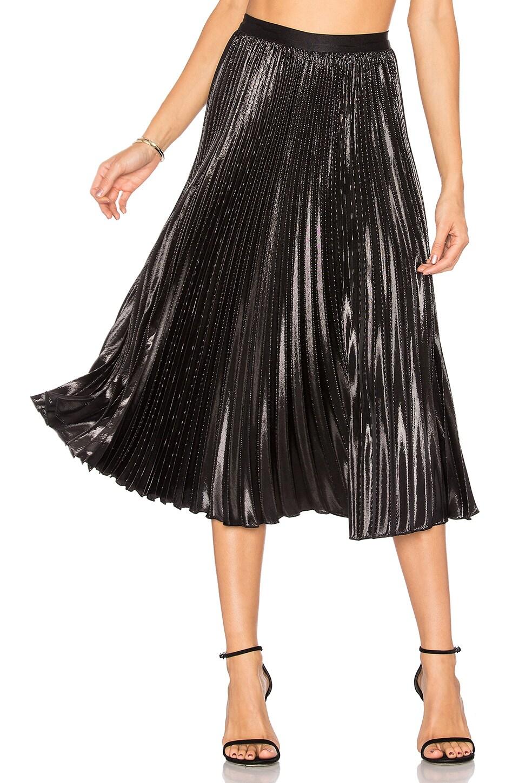 Diane von Furstenberg Heavyn Lurex Skirt in Black