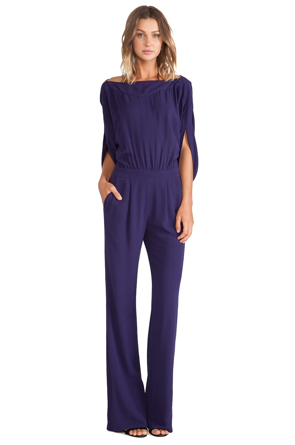 Diane von Furstenberg Dezi Jumpsuit in Purple Haze