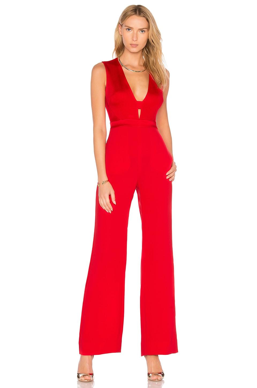 Diane von Furstenberg Kyara Tux Jumpsuit in Red