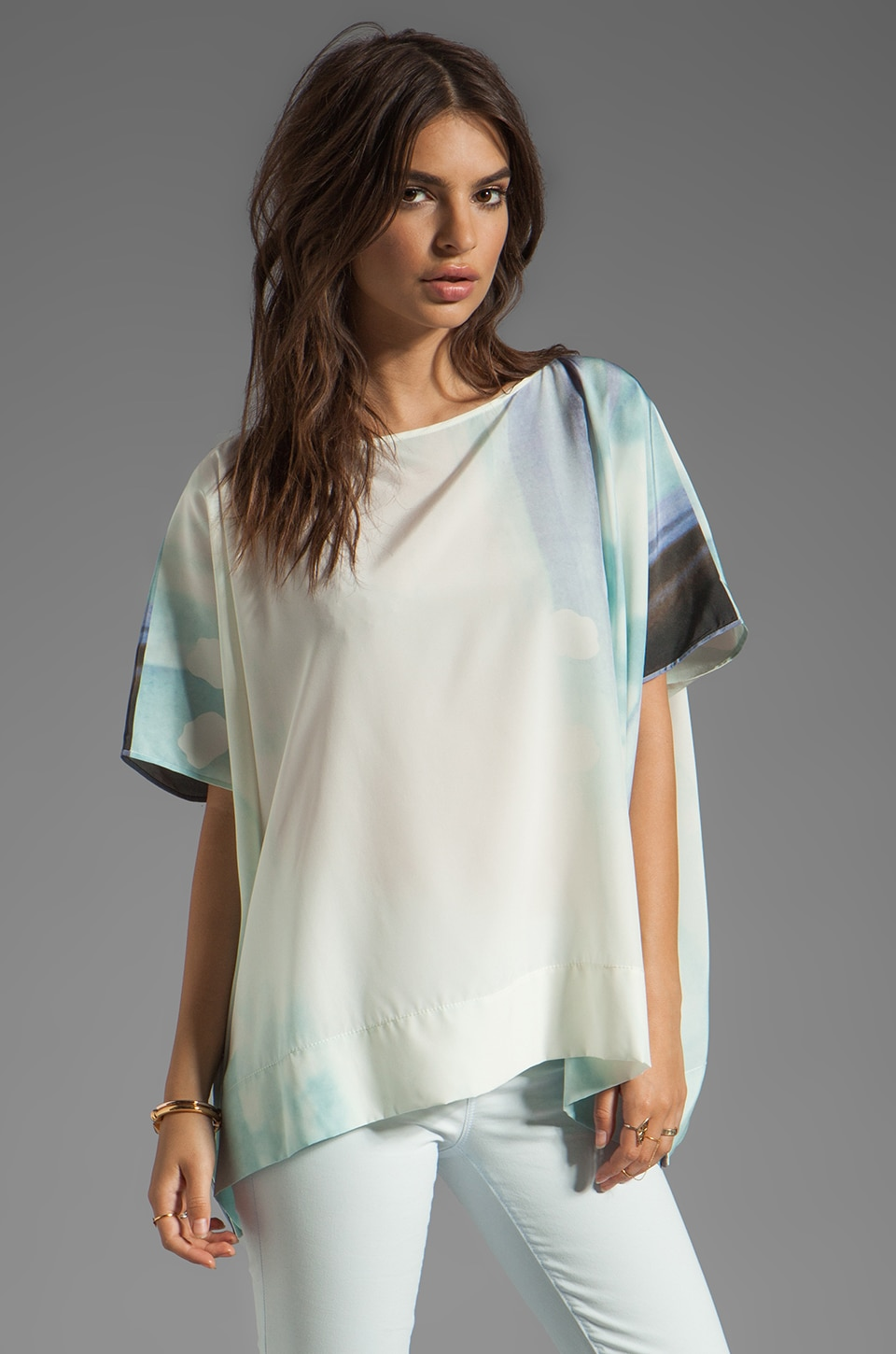 Diane von Furstenberg New Hanky Top in Ethereal
