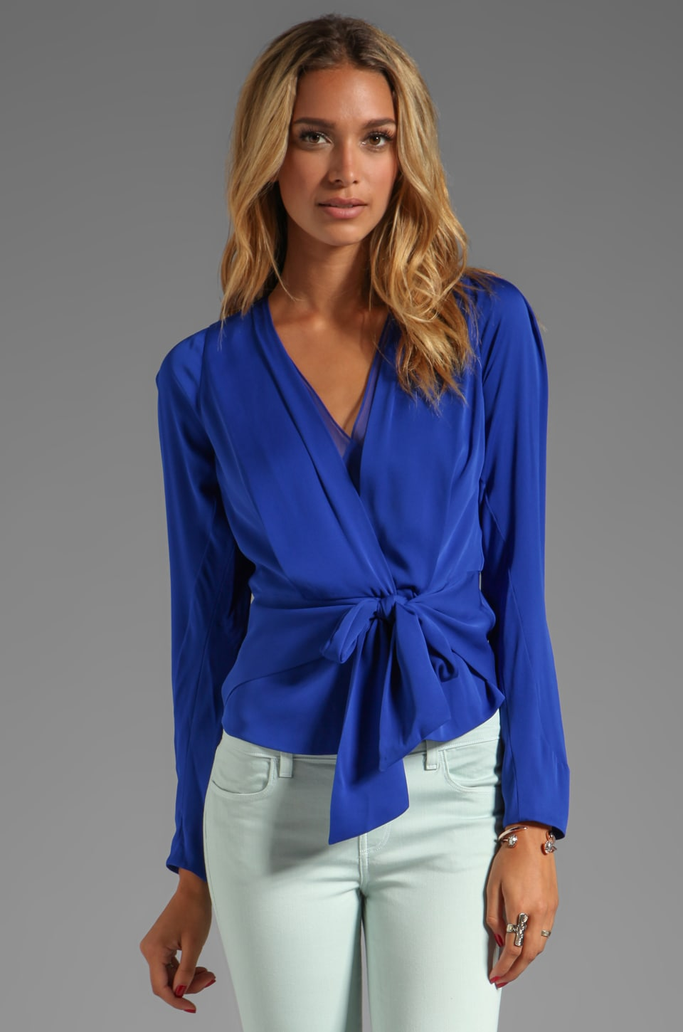 Diane von Furstenberg Teagan Top in Vivid Blue