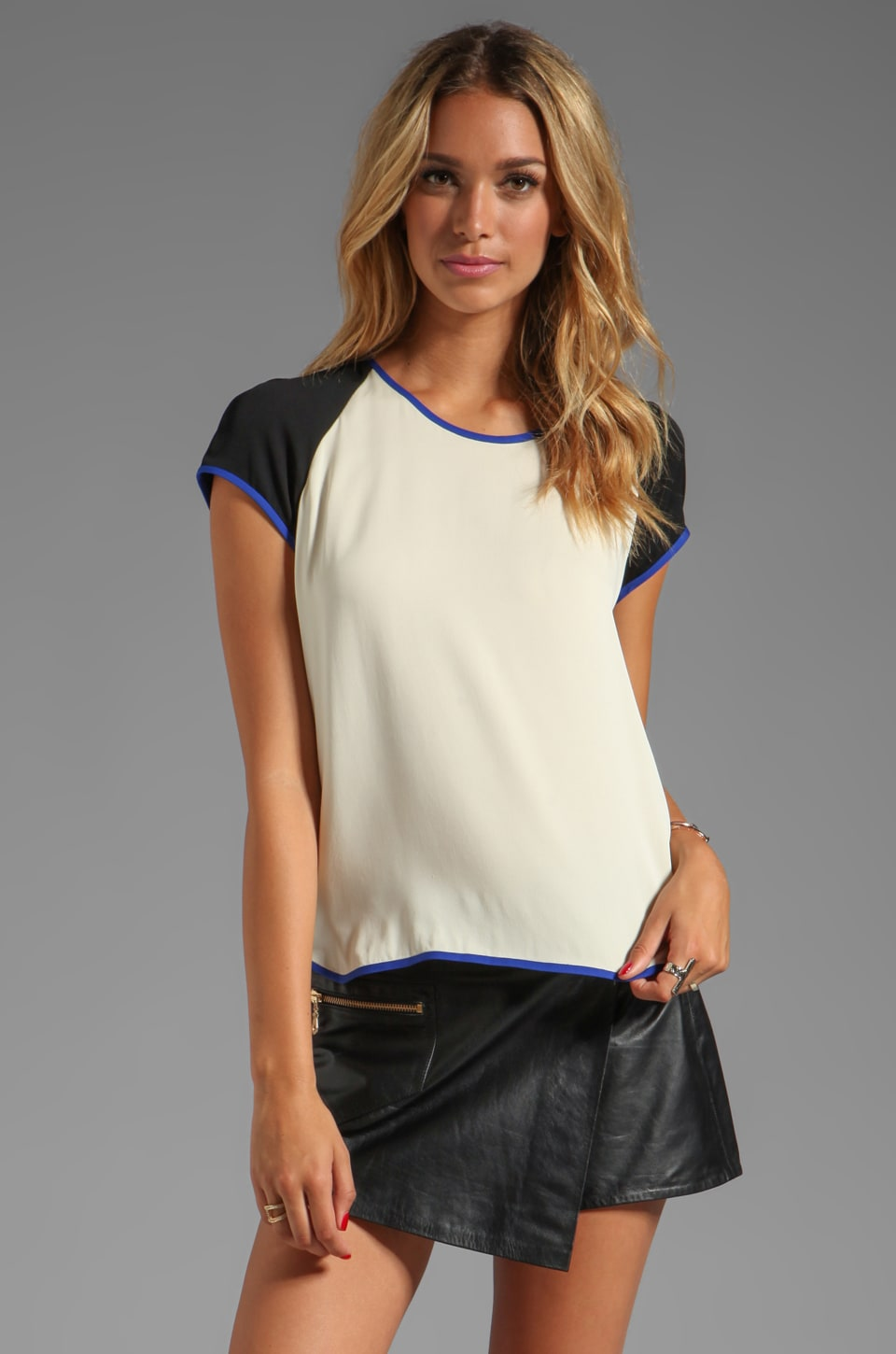 Diane von Furstenberg Liva Top in Blond Wood
