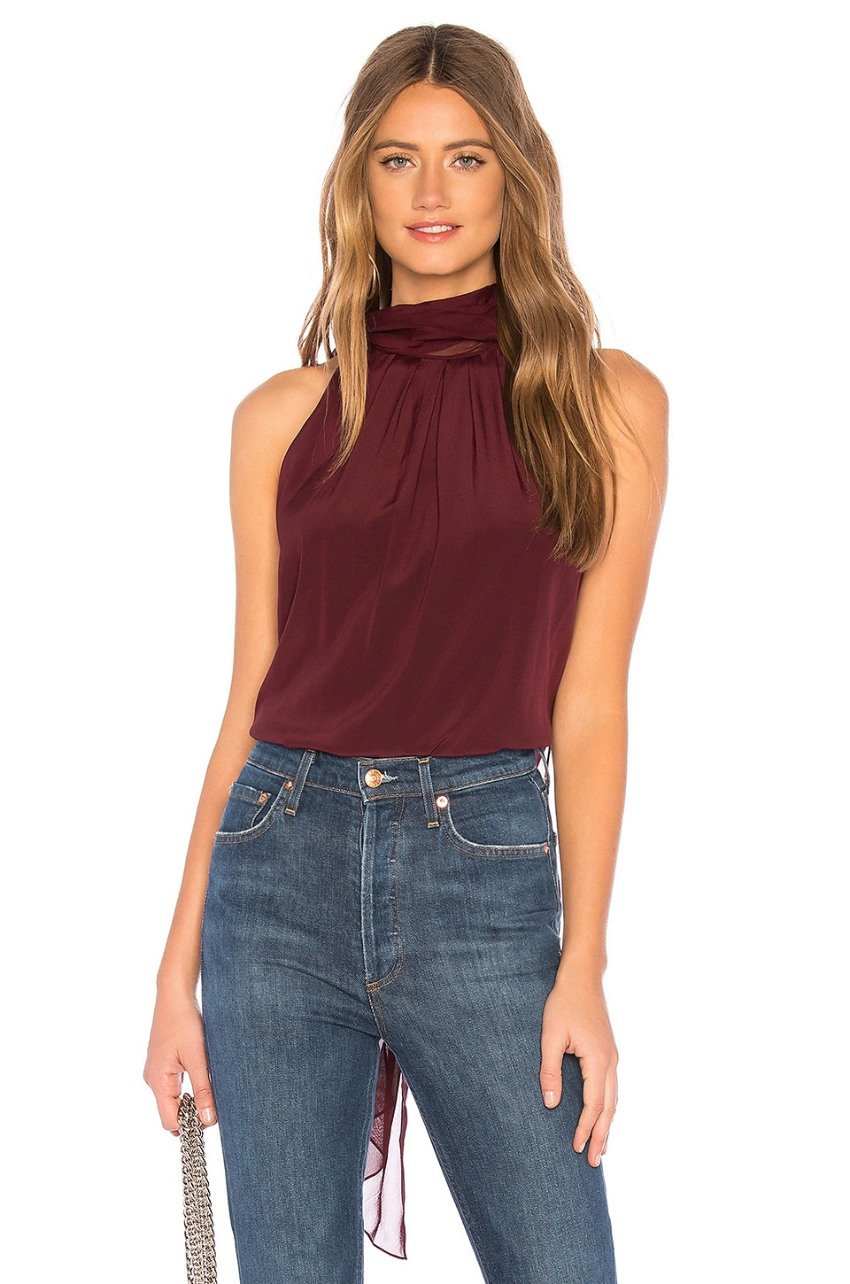 Sleeveless Highneck Blouse