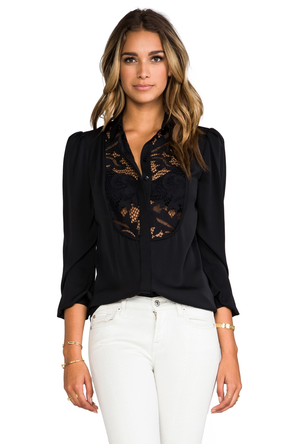 Diane von Furstenberg Lucia Top in Black