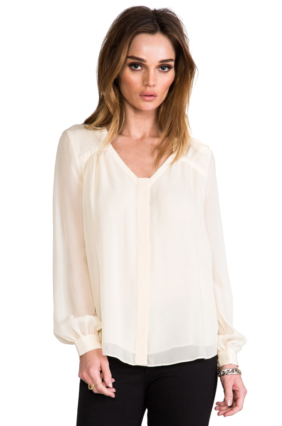 Diane von Furstenberg Lane Top in Sesame Seed