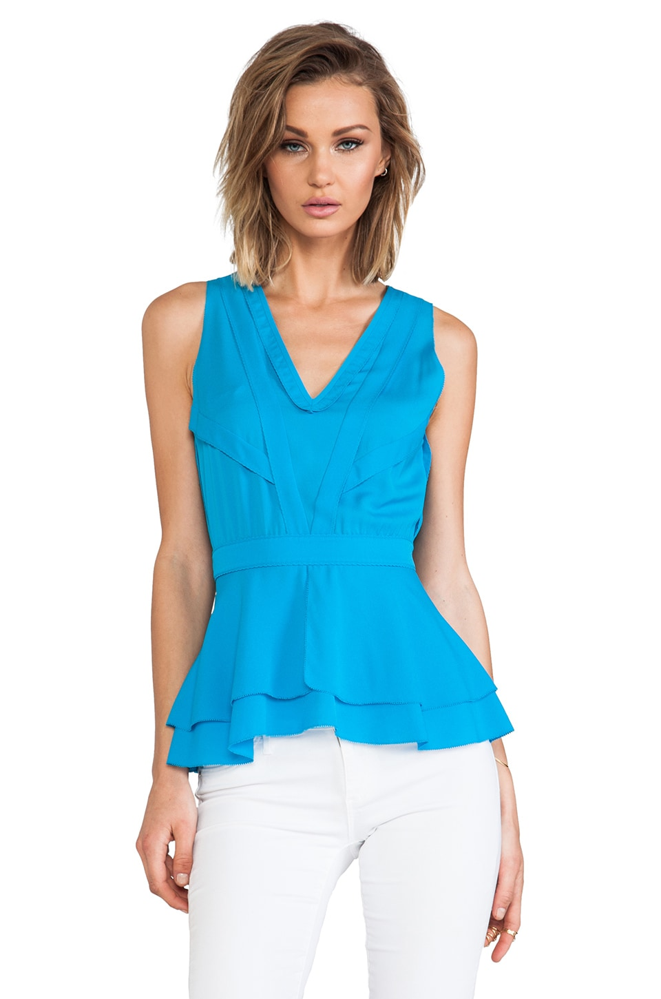 Diane von Furstenberg Talisha Top in Laguna Beach