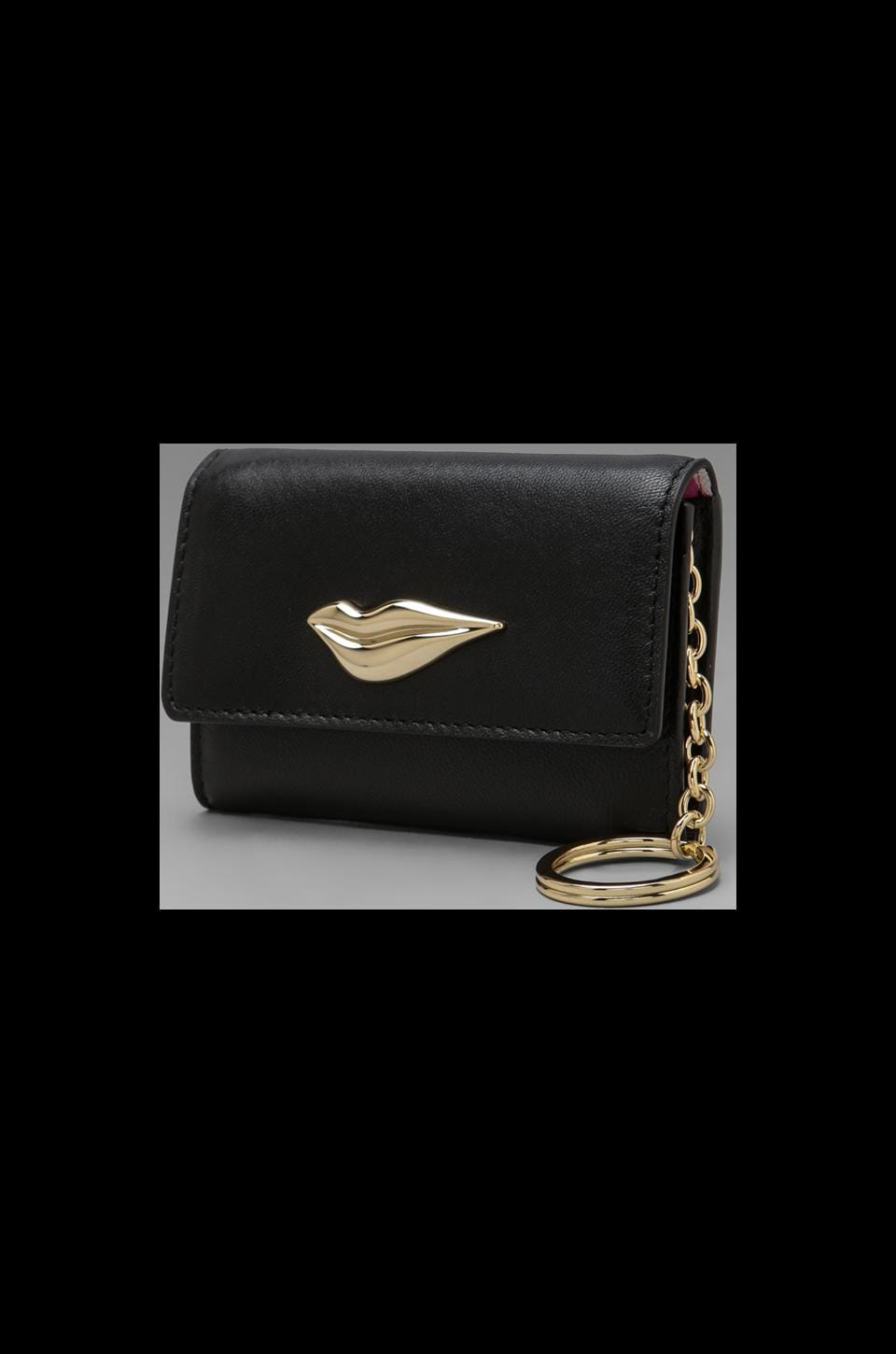 Diane von Furstenberg Lips Card Case in Black