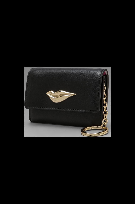 Diane von Furstenberg Lips Card Case in Black