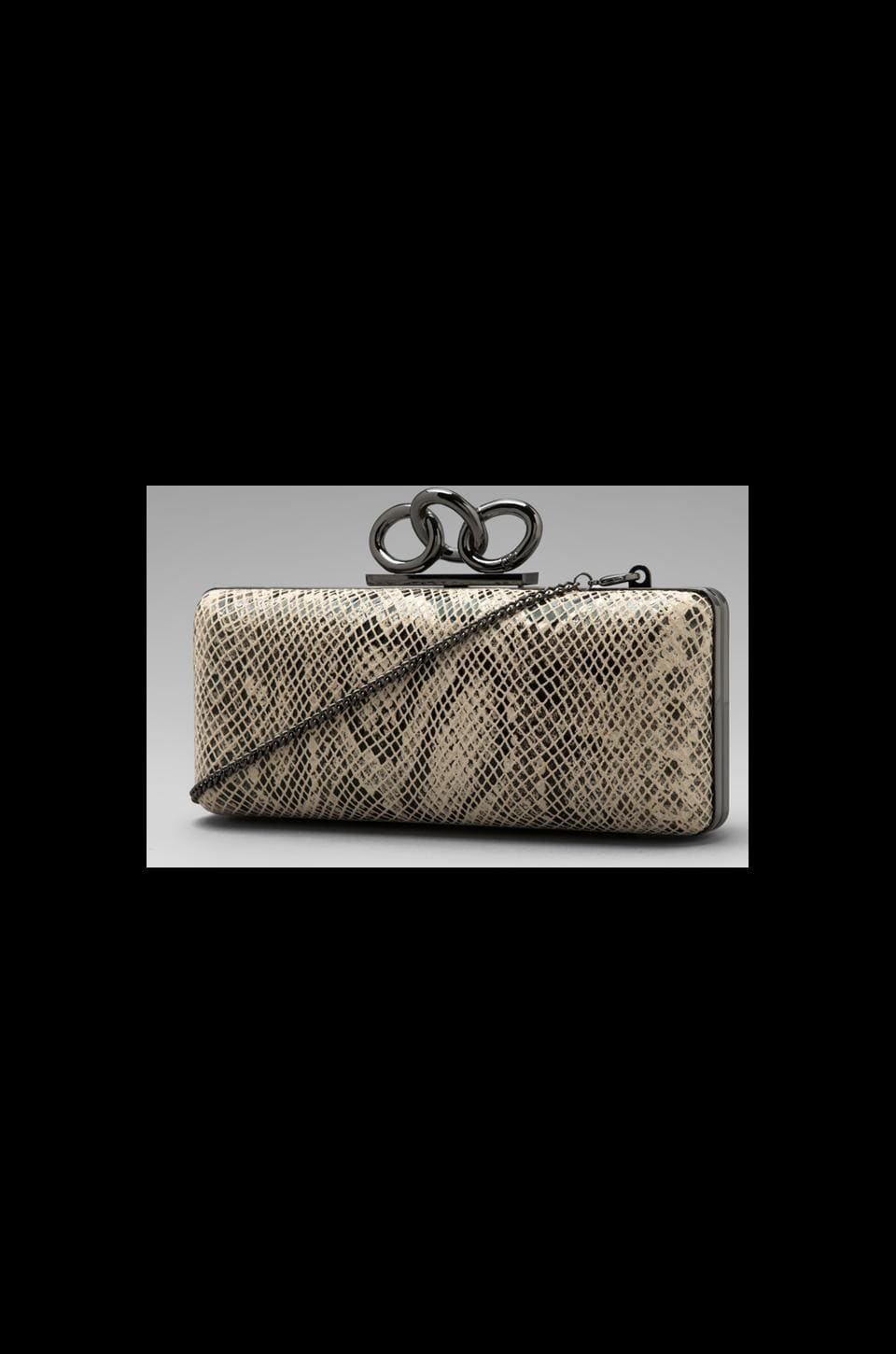 Diane von Furstenberg Stura Mini Clutch in Natural Snake