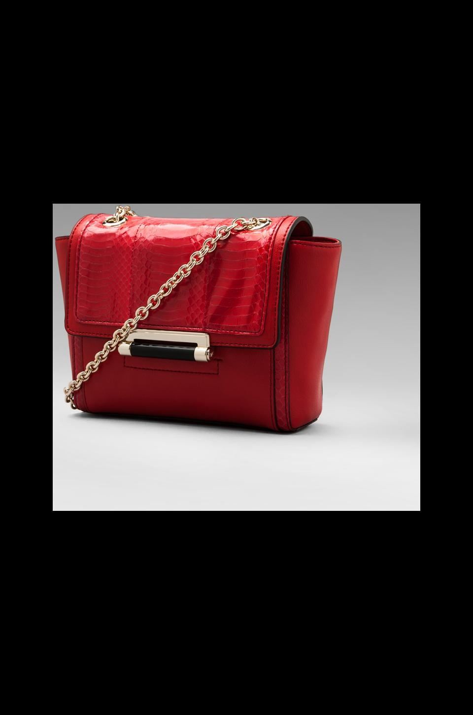 Diane von Furstenberg Mini Snake Combo Bag in Crimson