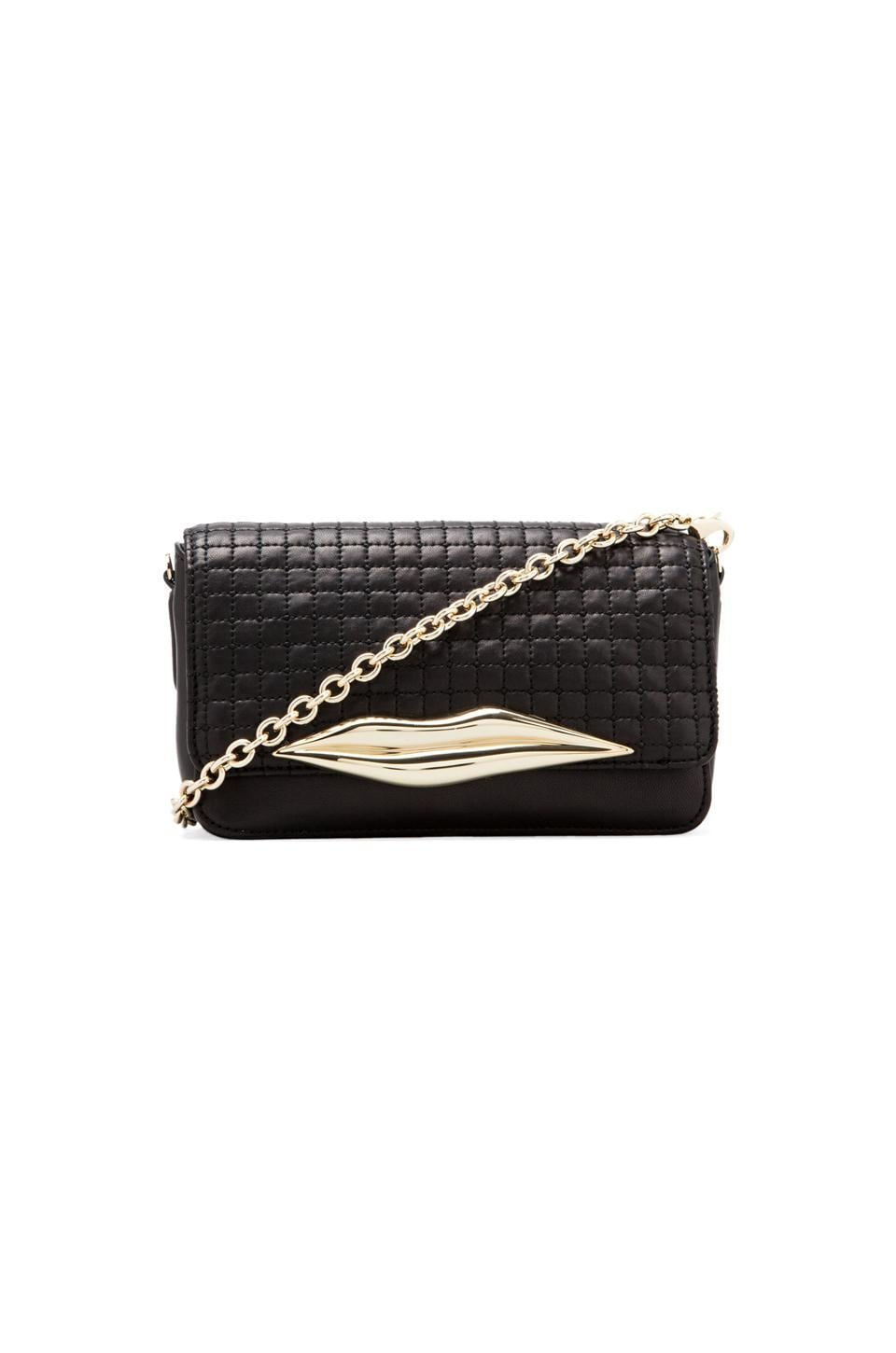 Diane von Furstenberg Flirty Mini Crossbody in Black