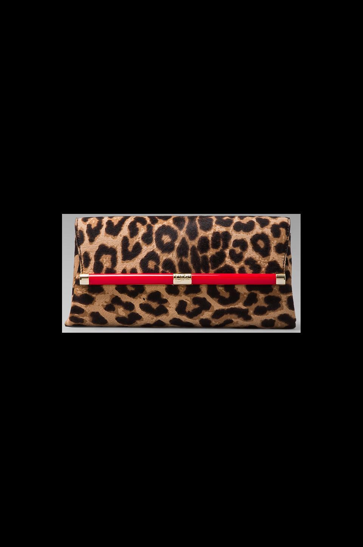 Diane von Furstenberg Envelope Clutch in Leopard