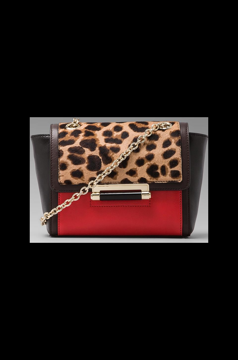 Diane von Furstenberg Mini Haircalf Clutch in Leopard