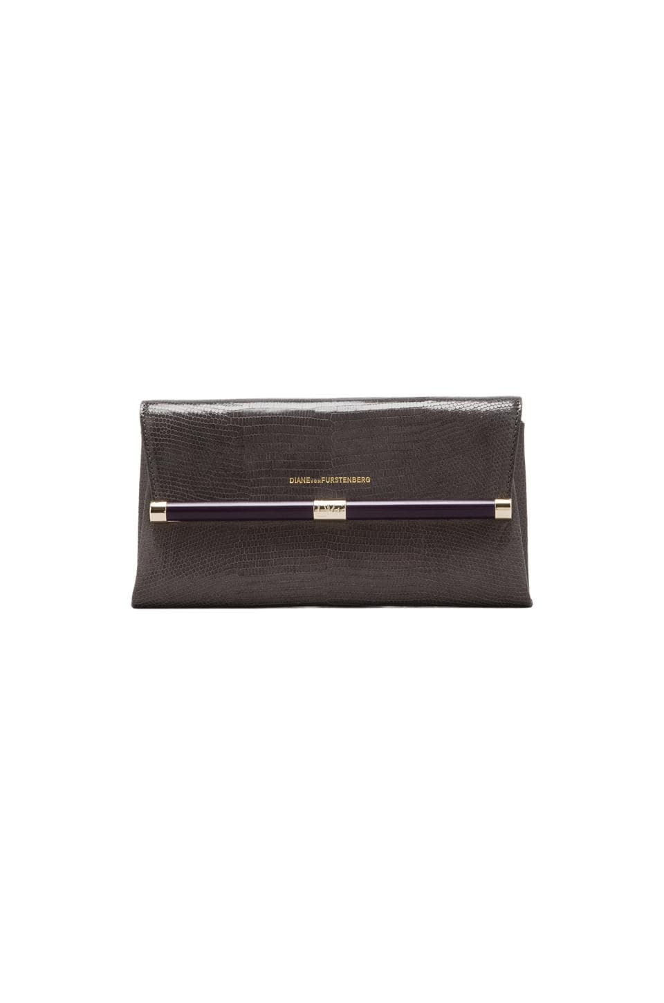 Diane von Furstenberg Envelope Clutch in Storm