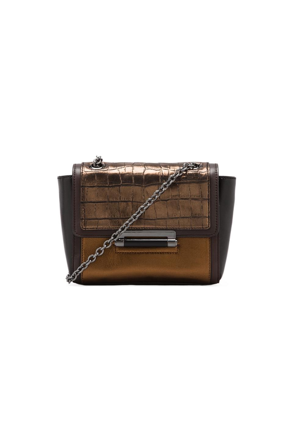 Diane von Furstenberg Mini Embossed Bag in Metallic