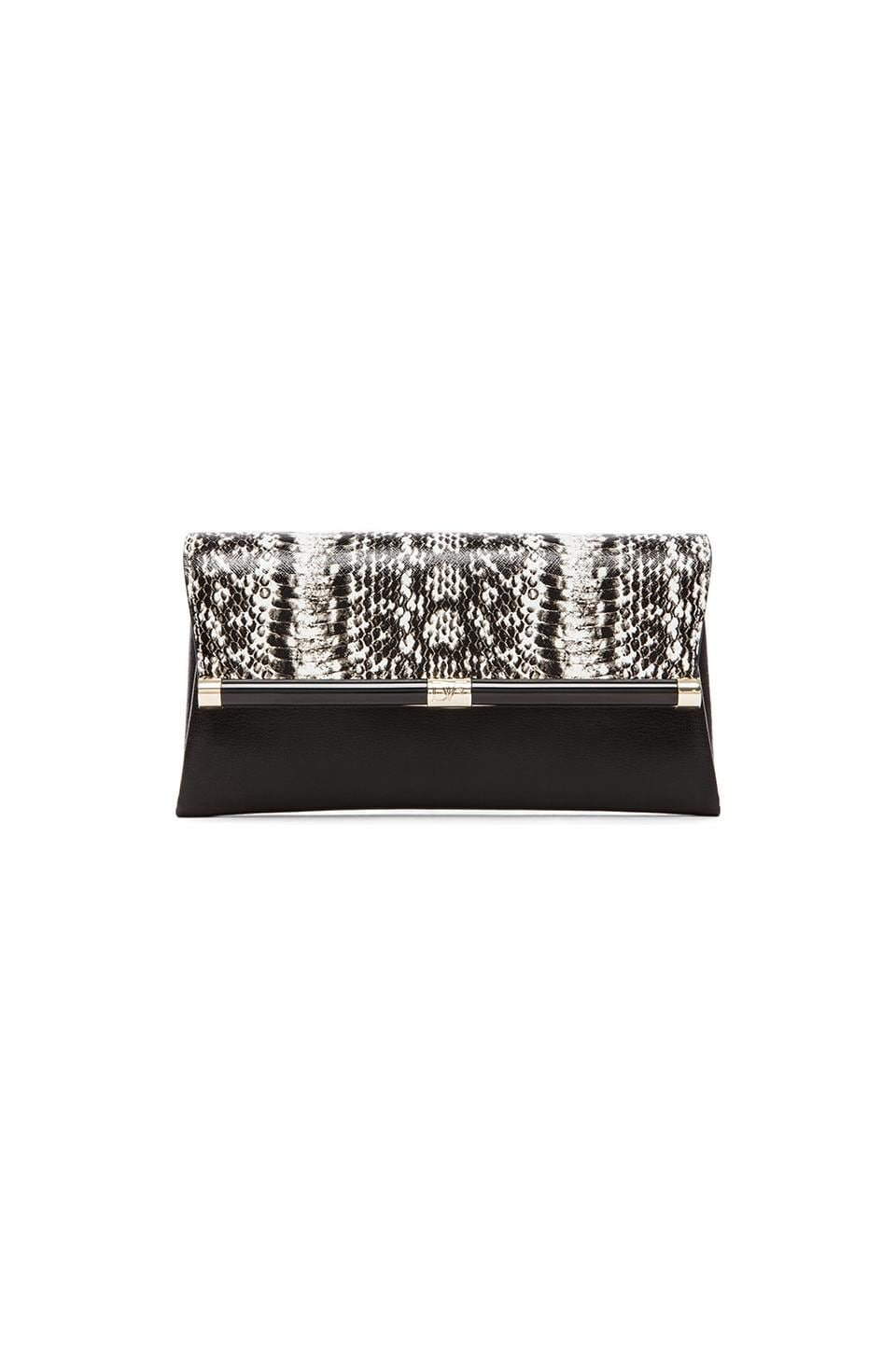 Diane von Furstenberg Envelope Clutch in Black & White