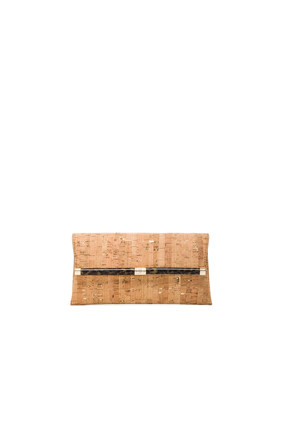 Diane von Furstenberg Envelope Clutch in Natural