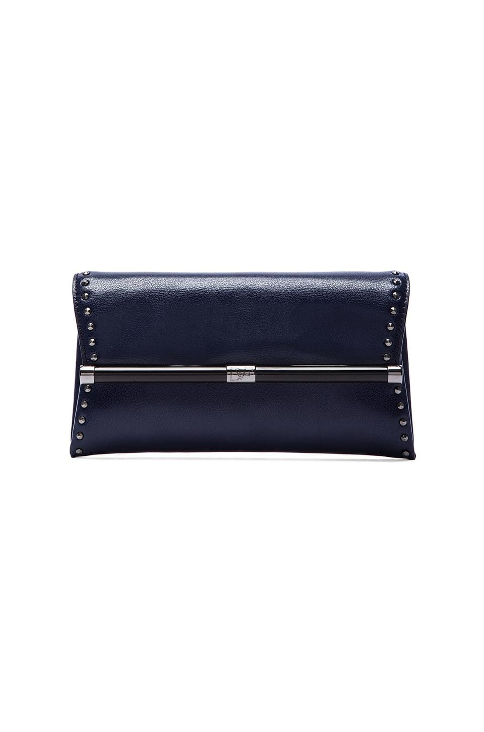 Diane von Furstenberg Envelope Clutch in Dark Night