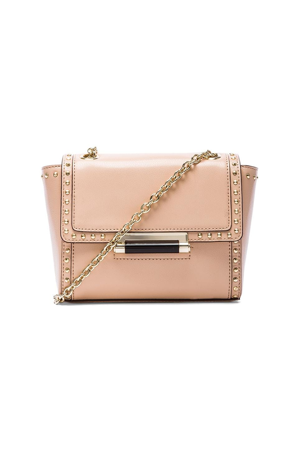 Diane von Furstenberg Mini Faceted Stud Crossbody Bag in Vachetta