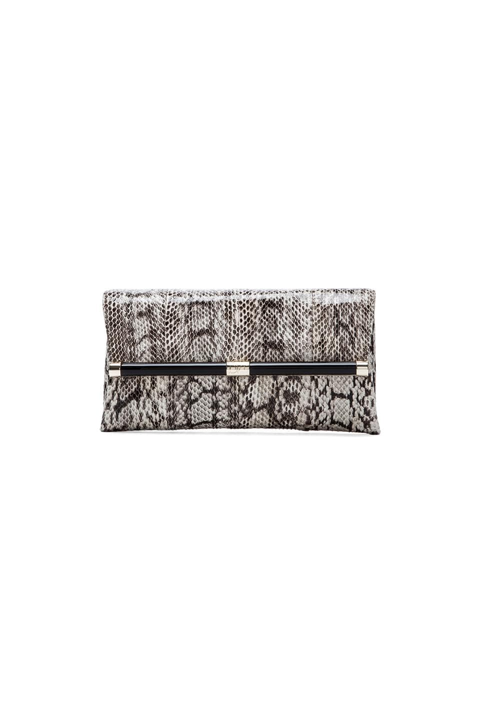 Diane von Furstenberg Envelope Clutch in Natural Roccia