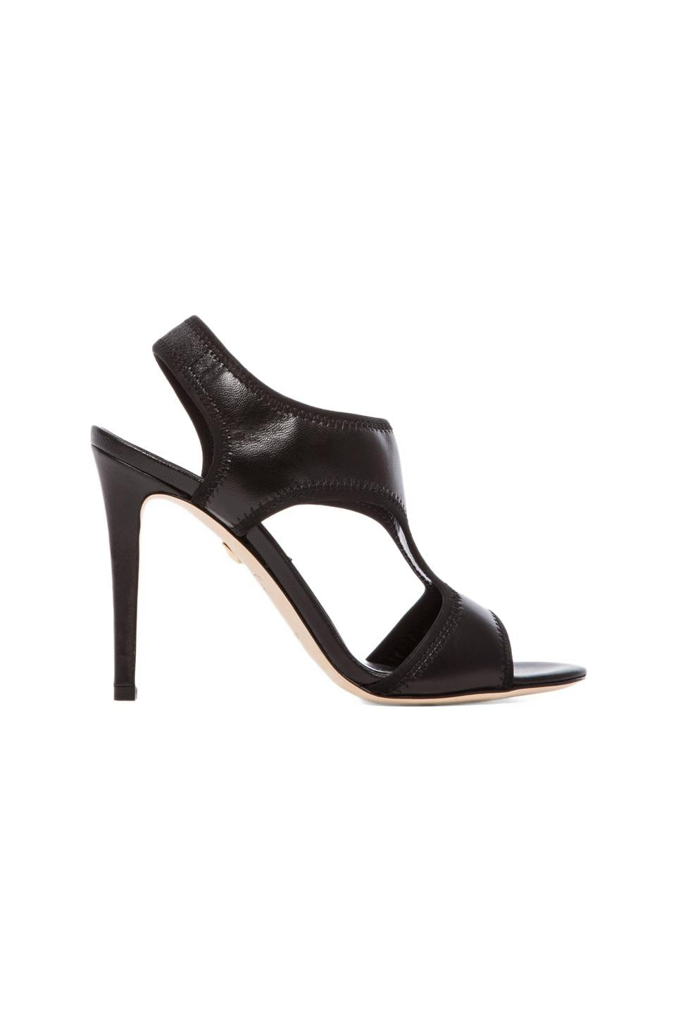 Diane von Furstenberg Urban Strappy Pump in Black & Black