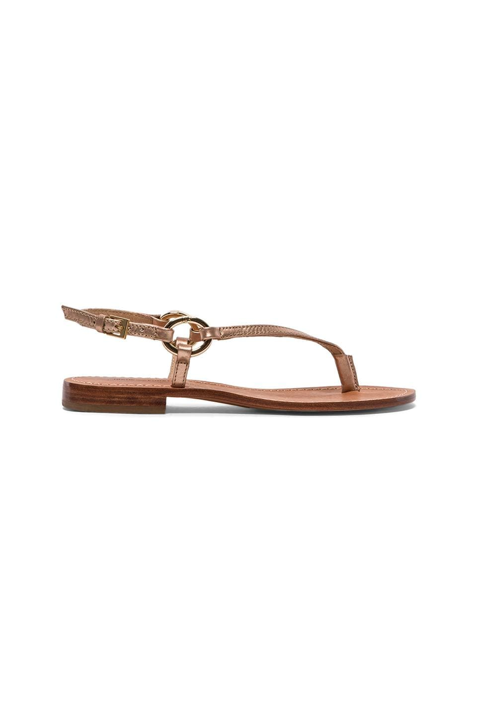 Diane von Furstenberg Cailin Sandal in Rose Gold & Metallic