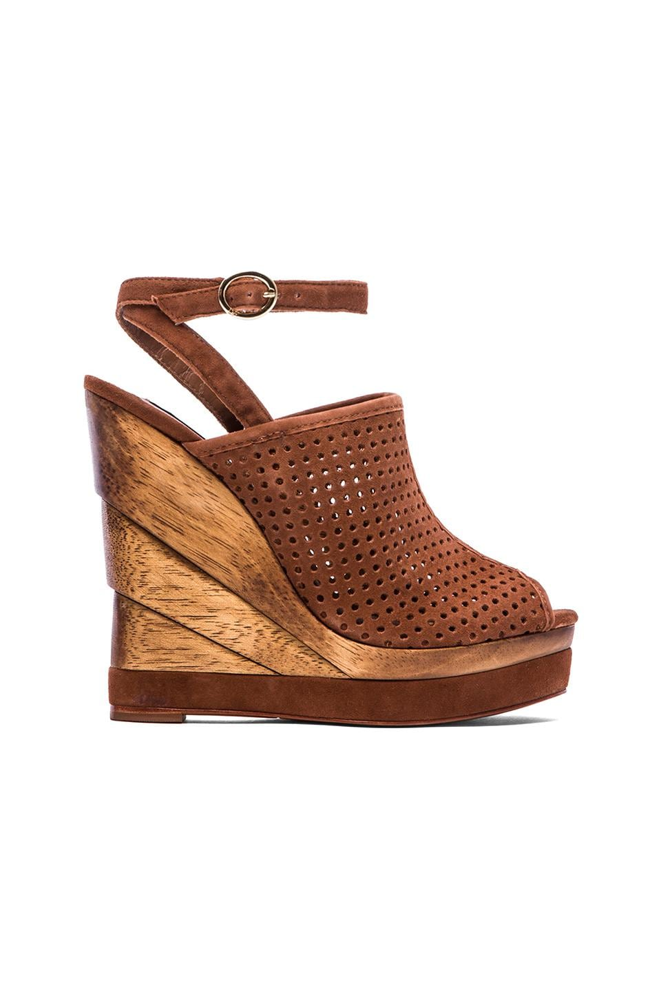 Diane von Furstenberg Paris Wedge in Sandalwood