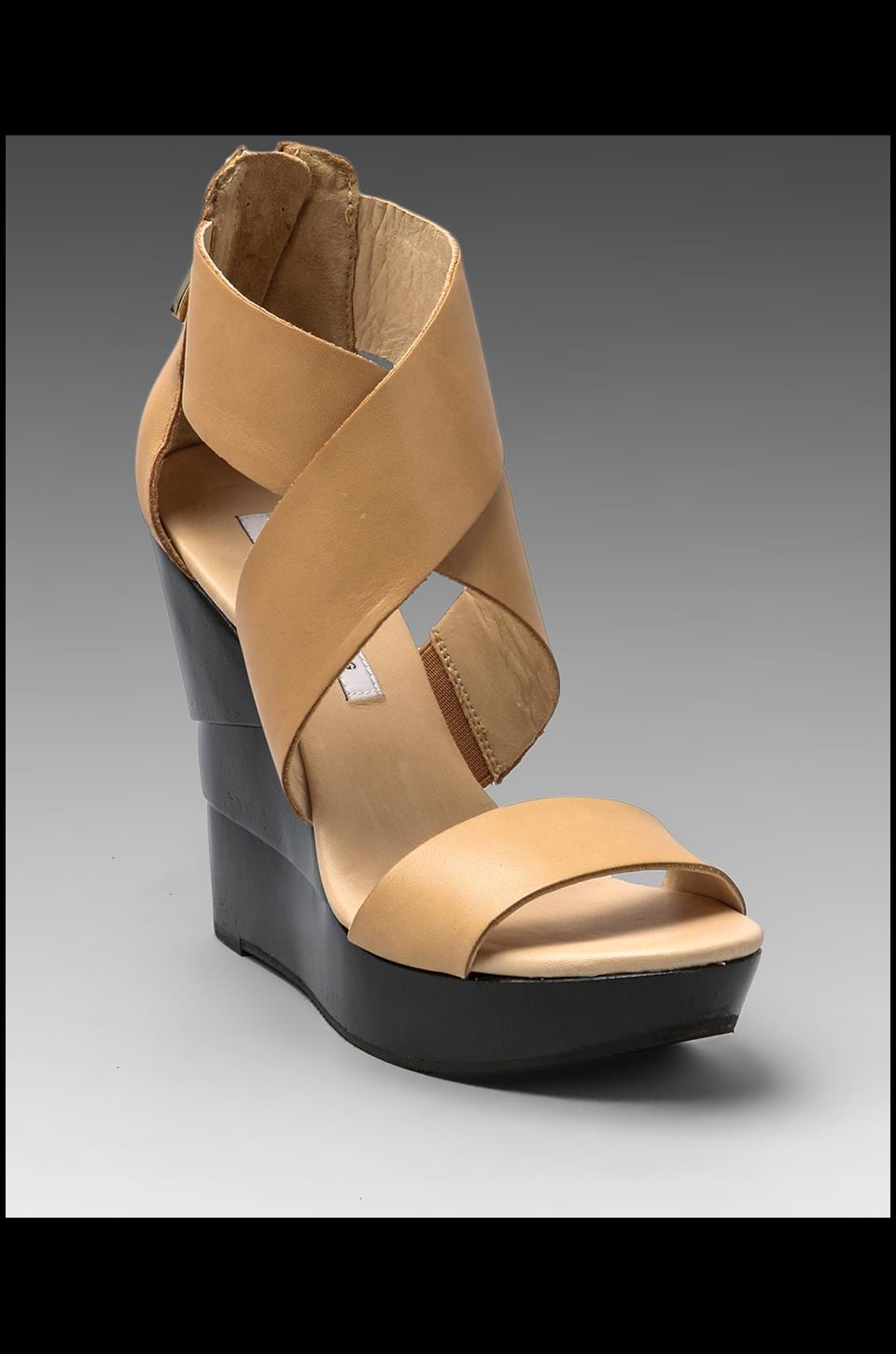 Diane von Furstenberg Opal Wedge in Natural/Black