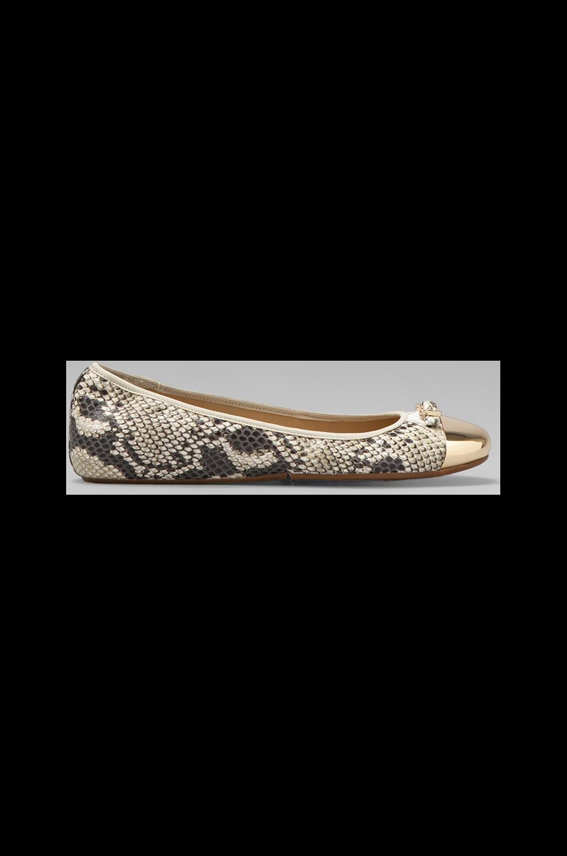 Diane von Furstenberg Bonita Flat in Natural Roccia Snake Print