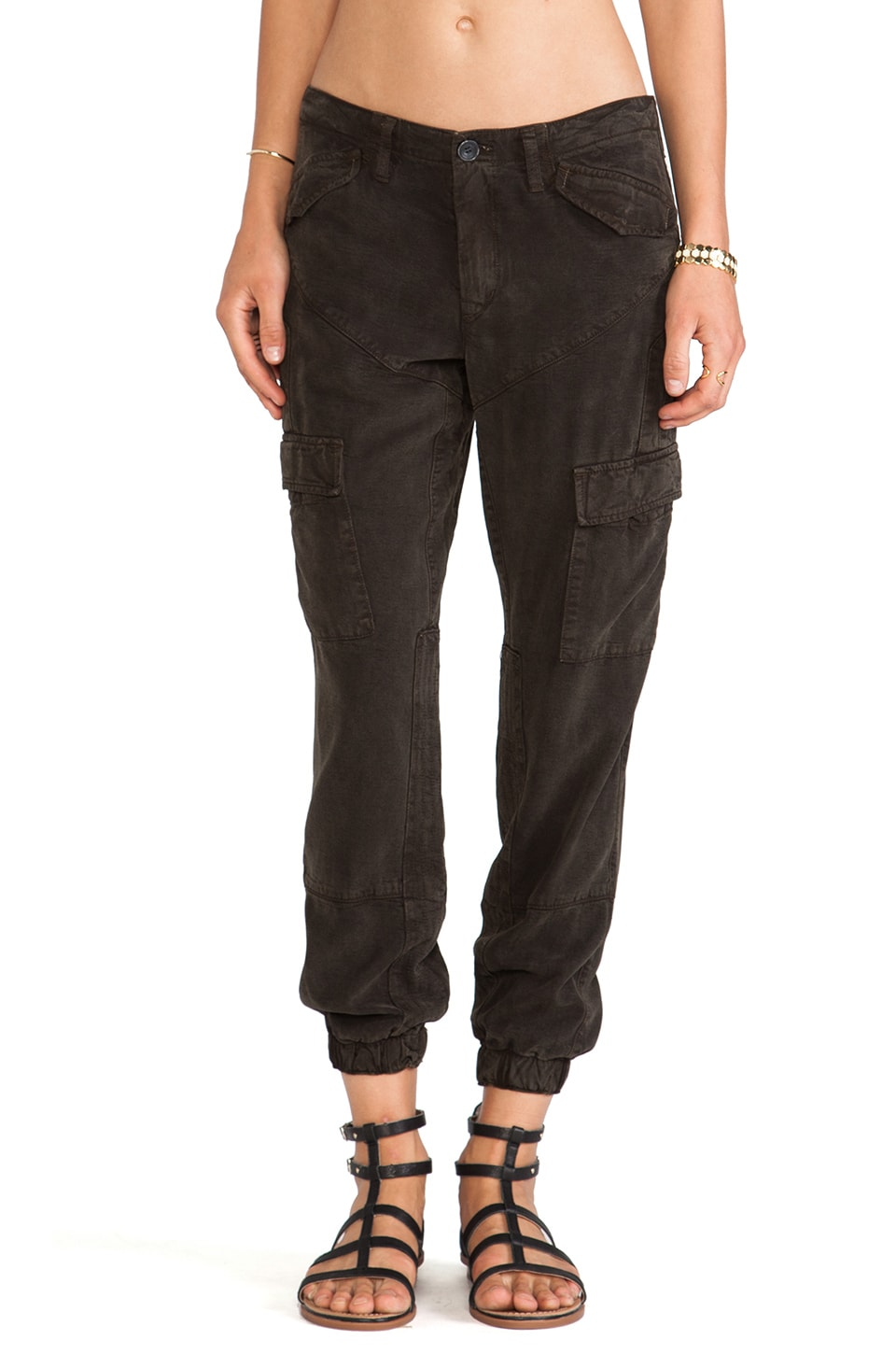 DWP Kat Slouchy Cargo Pant in Hunter Green | REVOLVE