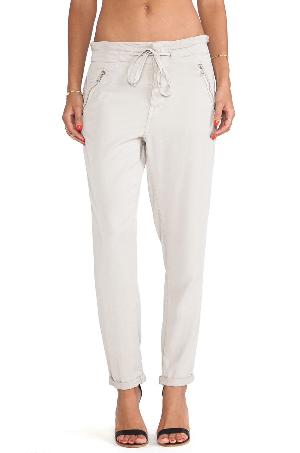 DWP Cameron Paper Bag Pant in Oyster