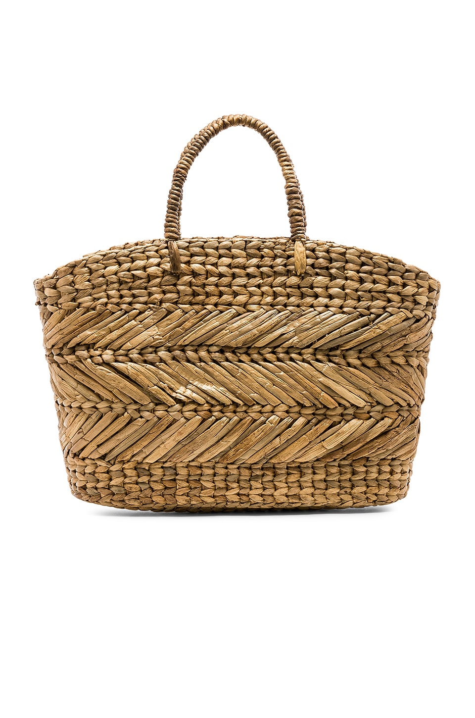ELLEN & JAMES Corfu Beach Basket Bag in Tan