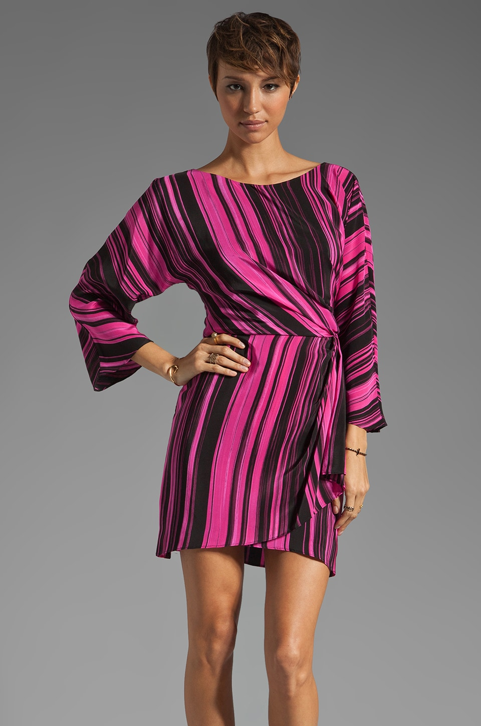 Elizabeth and James Chroma Jazlynn Dress in Fuchsia