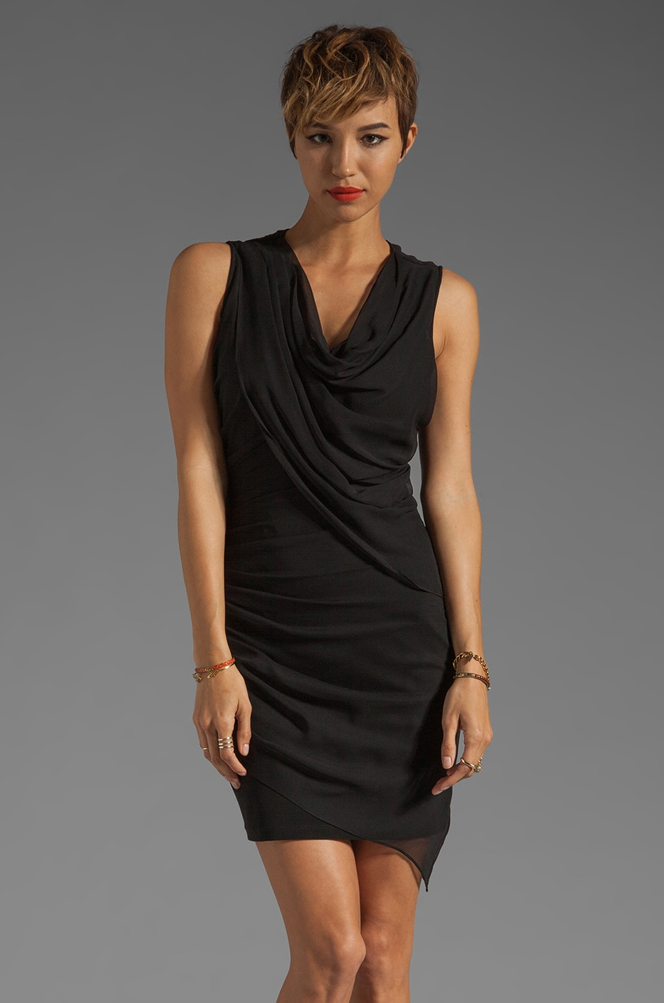 Elizabeth and James Marika Dress in Black