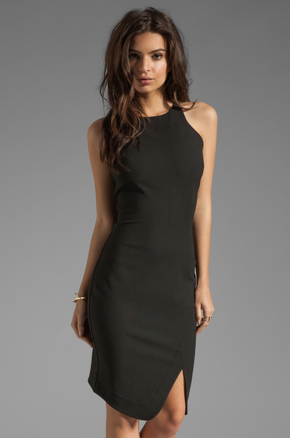 Elizabeth and James Bardot Dress in Black