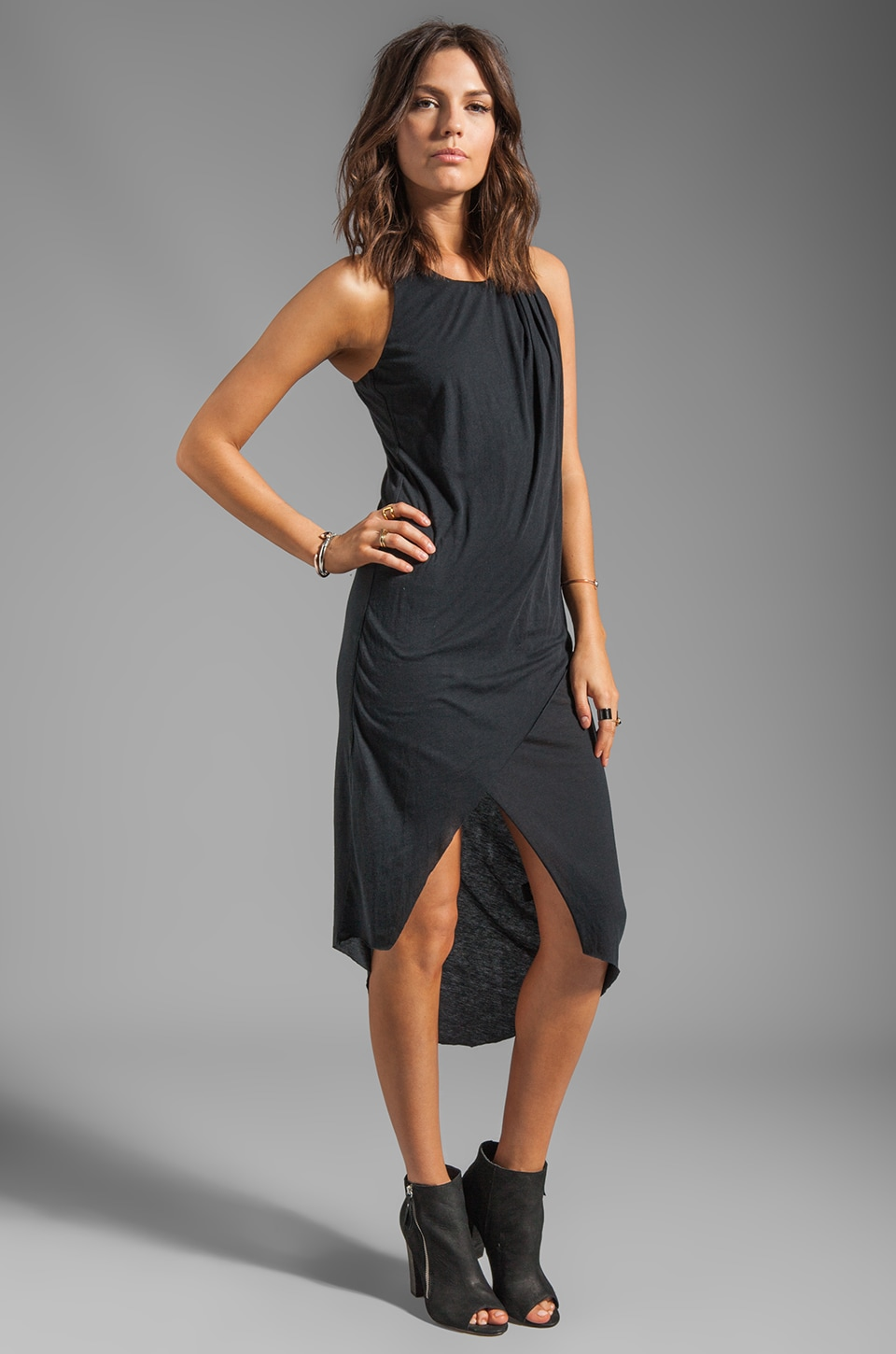 Elizabeth and James Willow Dress in Black