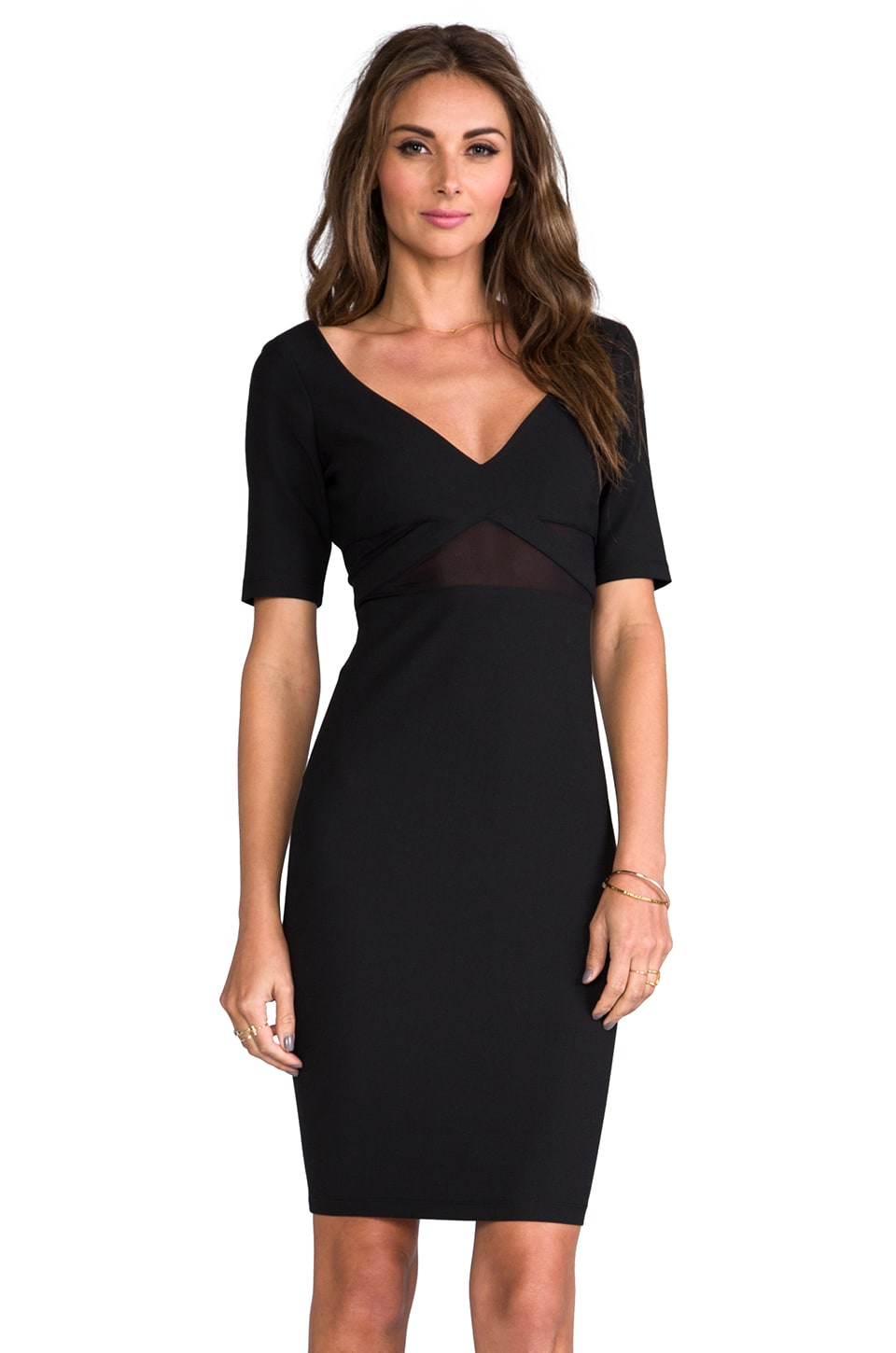 Elizabeth and James Dalianna Dress in Black
