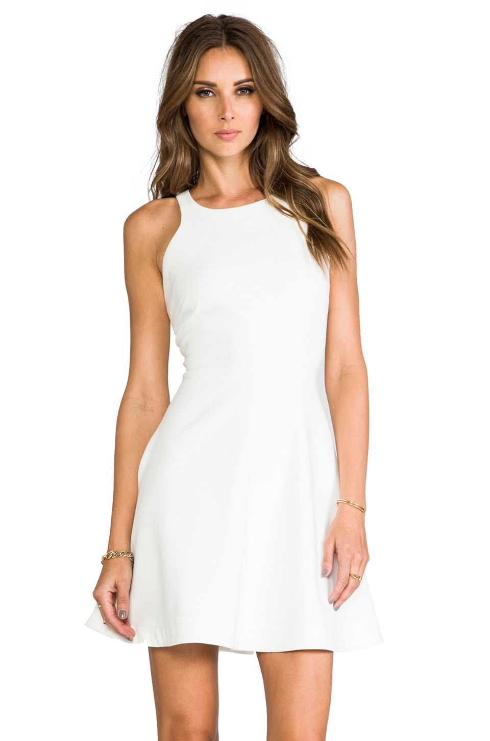 Elizabeth and James Magdalena Dress in Ivory